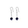 Boucles d'oreilles Satellite bleu en argent et lapis lazuli Natacha Audier