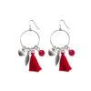 Boucles d'oreilles Far away rouge en corail et argent Natacha Audier Paris