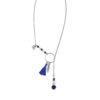 Collier coulissant Far away bleu en argent 925 et lapis lazuli Natacha Audier