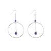 BO créoles Infinity en argent et lapis lazuli Natacha Audier Paris