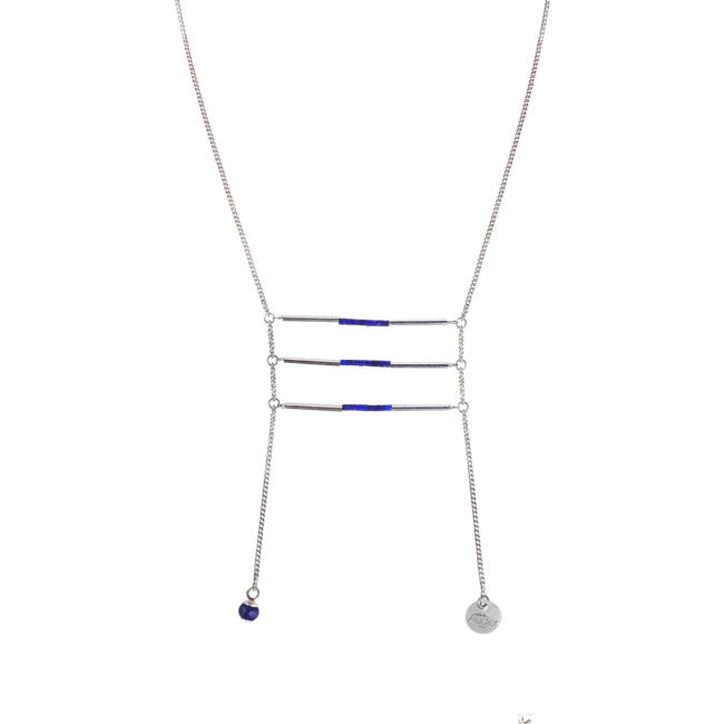 Collier Nephtys en argent et lapis lazuli Natacha Audier Paris