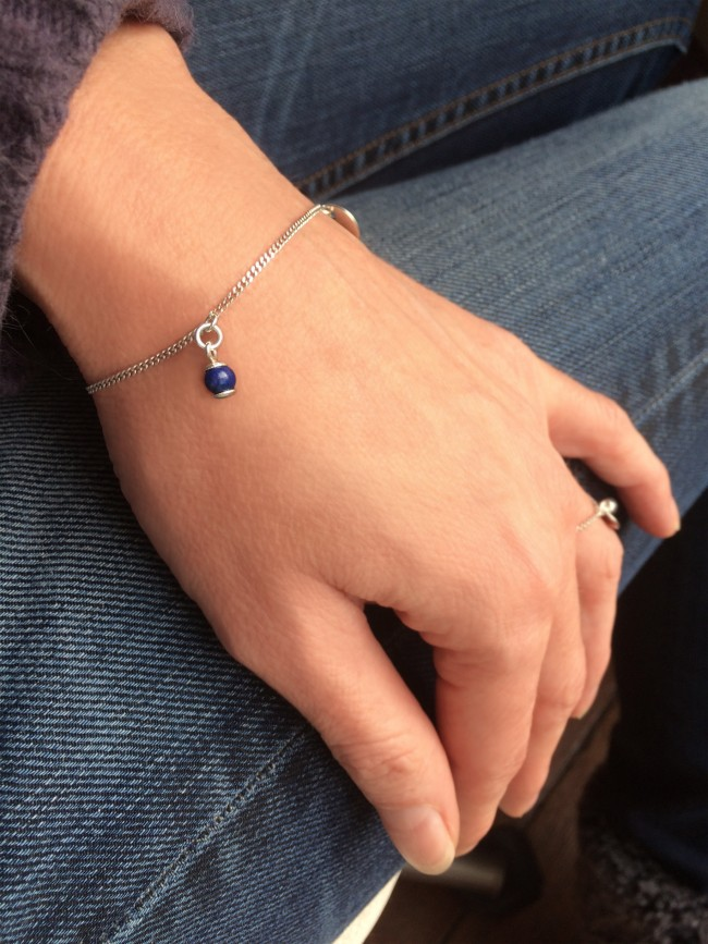 Bracelet Skin NA en argent massif et lapis lazuli Natacha Audier Paris