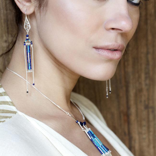 Boucles d'oreilles Arizona Blue Natacha Audier Paris
