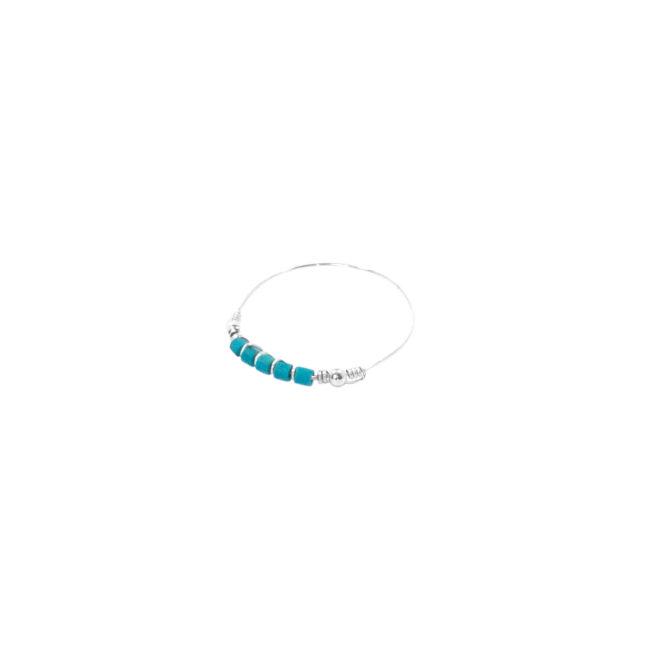 Bague Arizona Blue turquoise en argent et turquoise Natacha Audier Paris