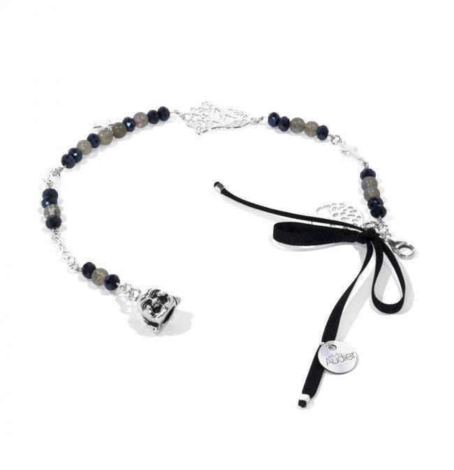 Bracelet Soul en labradorite et argent massif Natacha Audier Paris