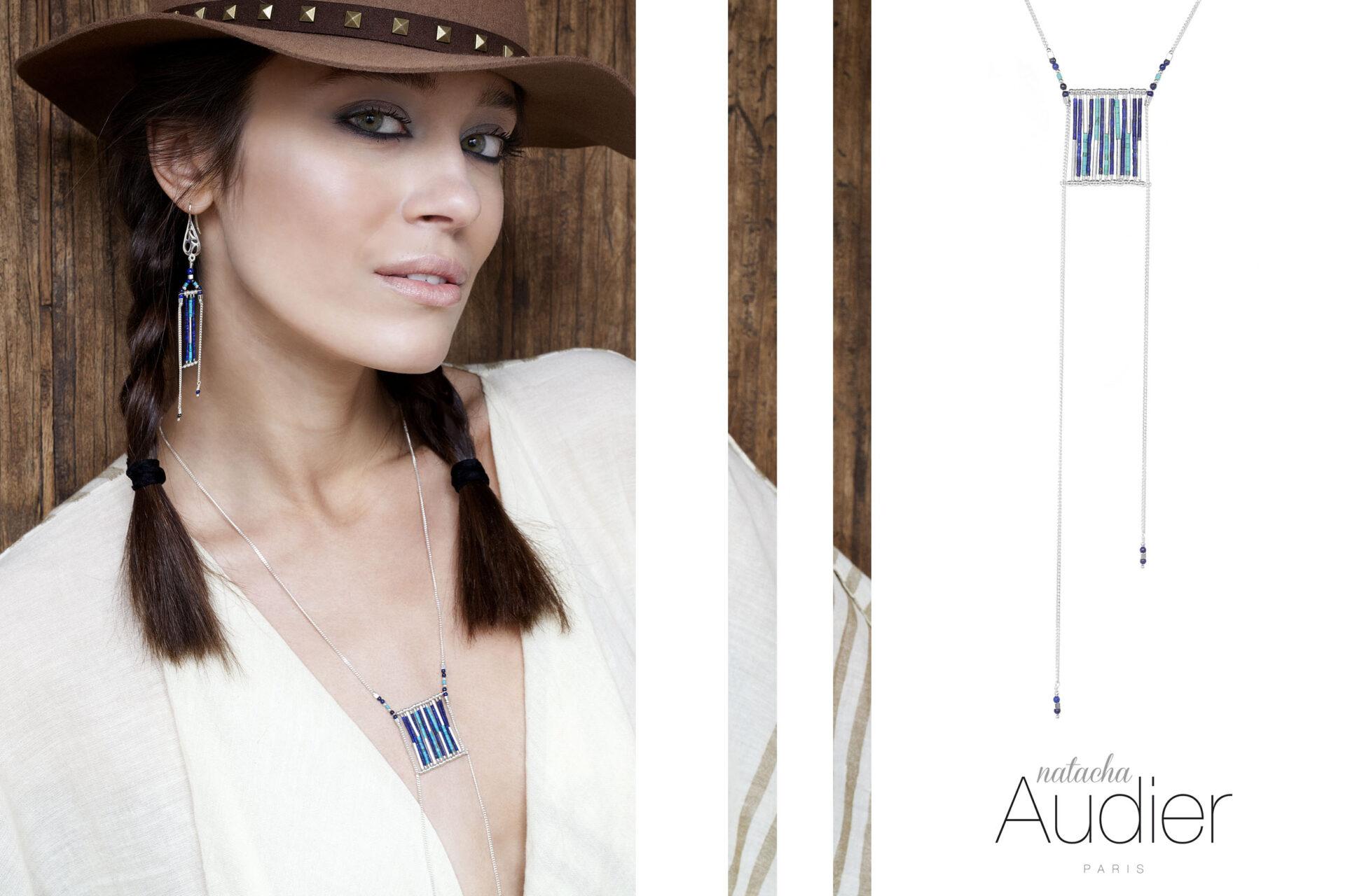 sautoir Arizona Blue Natacha Audier Paris