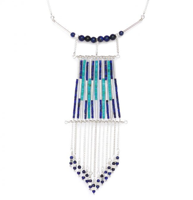 Collier plastron Arizona Blue Natacha Audier Paris