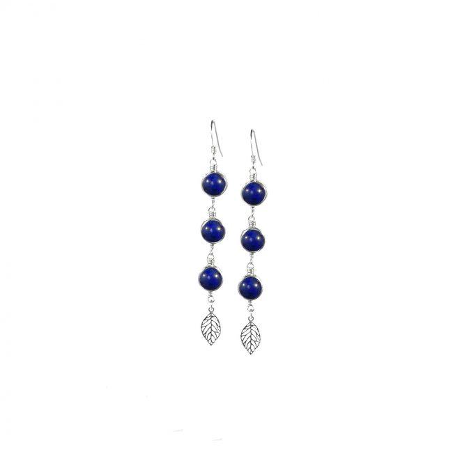BO Thelma en lapis lazuli et argent massif Natacha Audier Paris