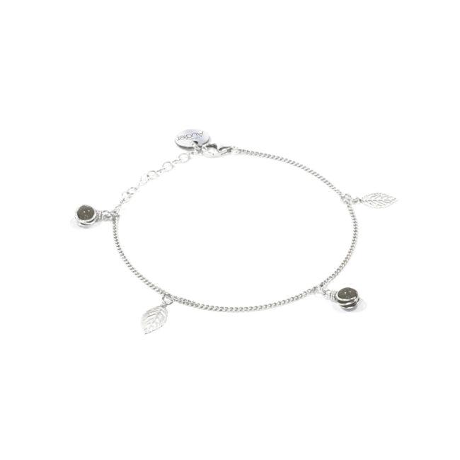 Bracelet fin Thelma en labradorite et argent massif Natacha Audier Paris