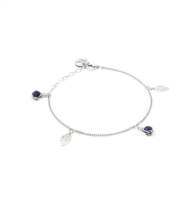 Bracelet fin Thelma en lapis lazuli et argent massif Natacha Audier Paris