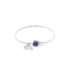 Bracelet jonc Louise en lapis lazuli et argent massif Natacha Audier Paris