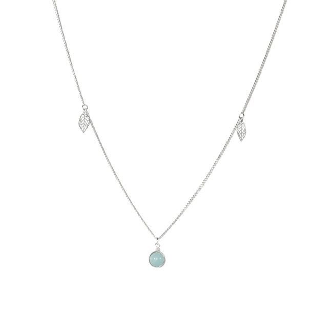 Collier ras du cou Thelma en amazonite et argent massif Natacha Audier Paris