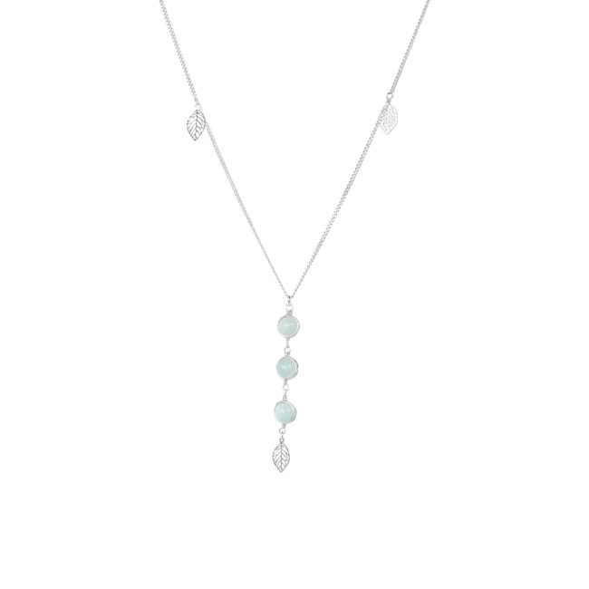 Collier Thelma en amazonite et argent massif Natacha Audier Paris