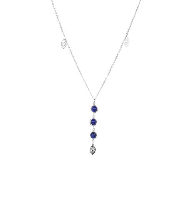 Collier Thelma en lapis lazuli et argent massif Natacha Audier Paris