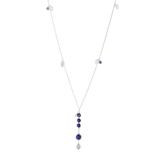 Sautoir Thelma en lapis lazuli et argent massif Natacha Audier Paris