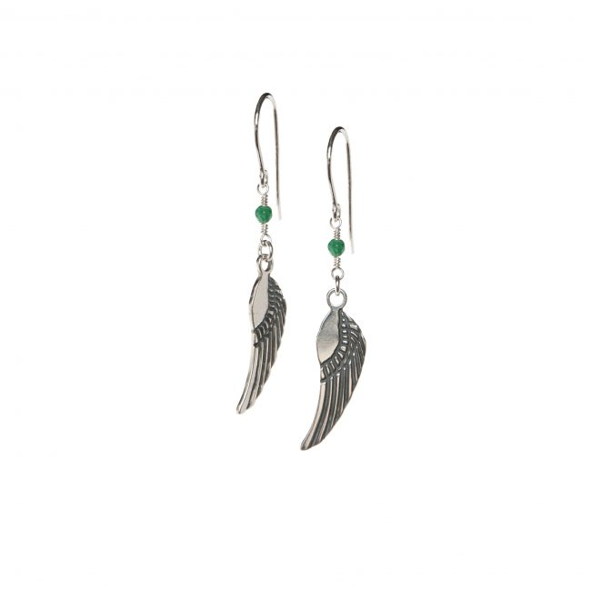 B.O. angel agate mousse et argent massif Indian Spirit Natacha Audier Paris