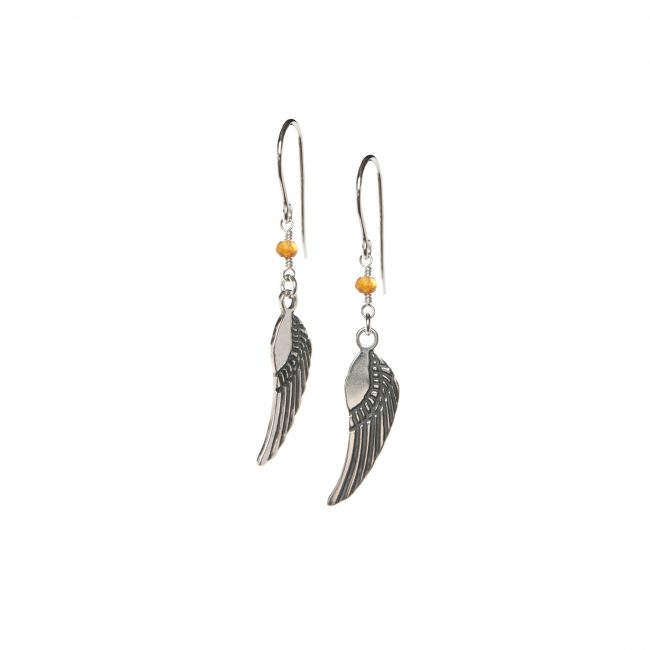 B.O. angel cornaline et argent massif Indian Spirit Natacha Audier Paris