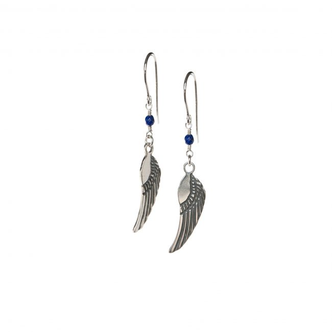 B.O. angel lapis lazuli et argent massif Indian Spirit Natacha Audier Paris