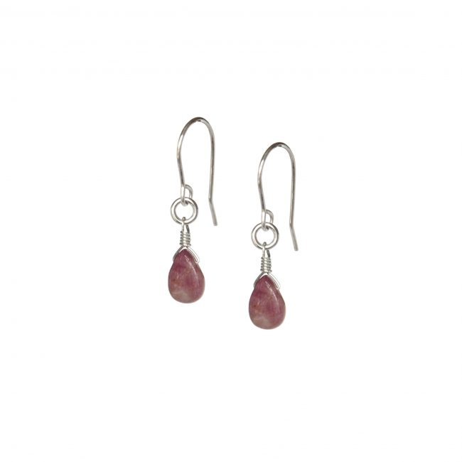 B.O. tourmaline rose et argent massif Lady Jane Natacha Audier Paris
