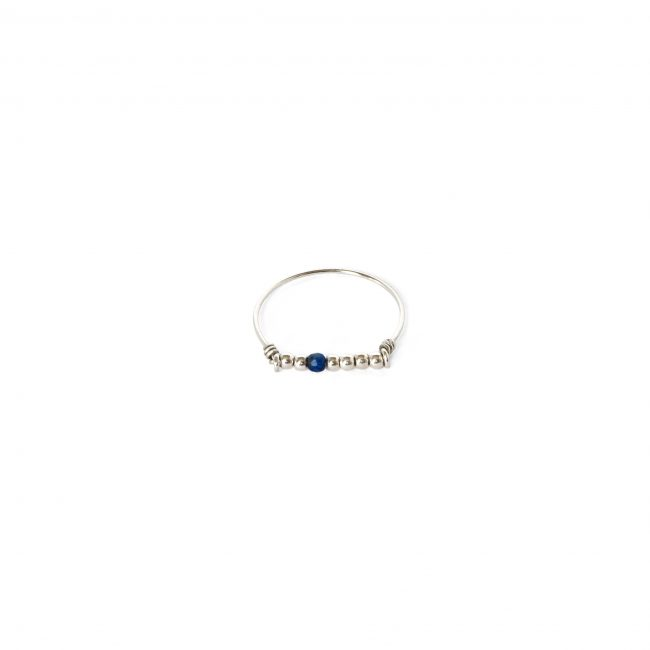 Bague lapis lazuli Indian spirit Natacha Audier Paris