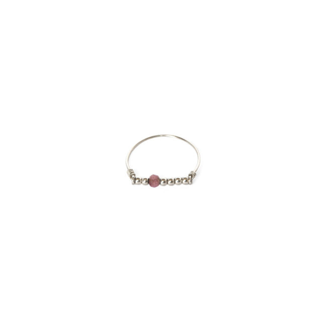 Bague tourmaline rose Indian Spirit Natacha Audier Paris