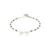 Bracelet agate mousse et argent massif Mezza luna Natacha Audier Paris