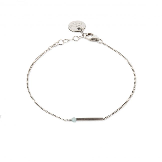 Bracelet amazonite et argent massif My first Natacha Audier Paris