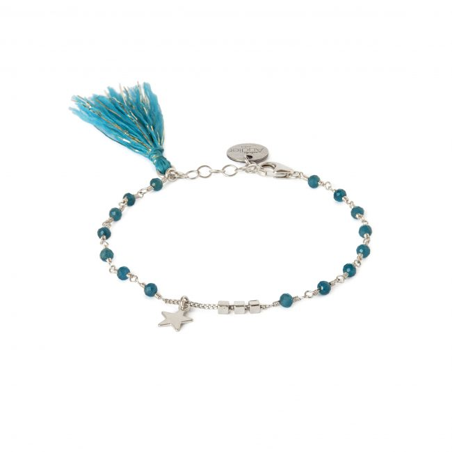 Bracelet apatite et argent massif Indian spirit Natacha Audier Paris