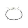 Bracelet tressé fil bleu et argent massif Jazz Natacha Audier Paris