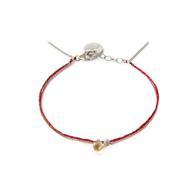 Bracelet citrine et argent massif Sweet Jane Natacha Audier Paris