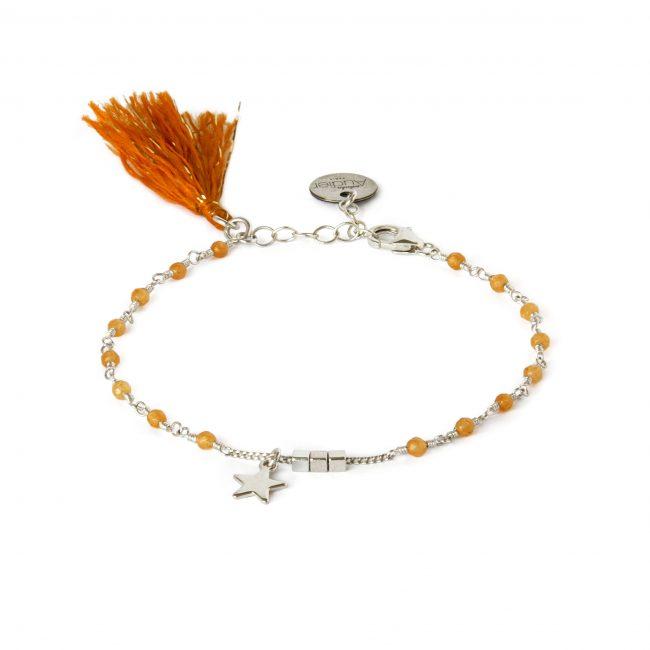 Bracelet aventurine et argent massif Indian spirit Natacha Audier Paris