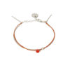 Bracelet cornaline et argent massif Sweet Jane Natacha Audier Paris