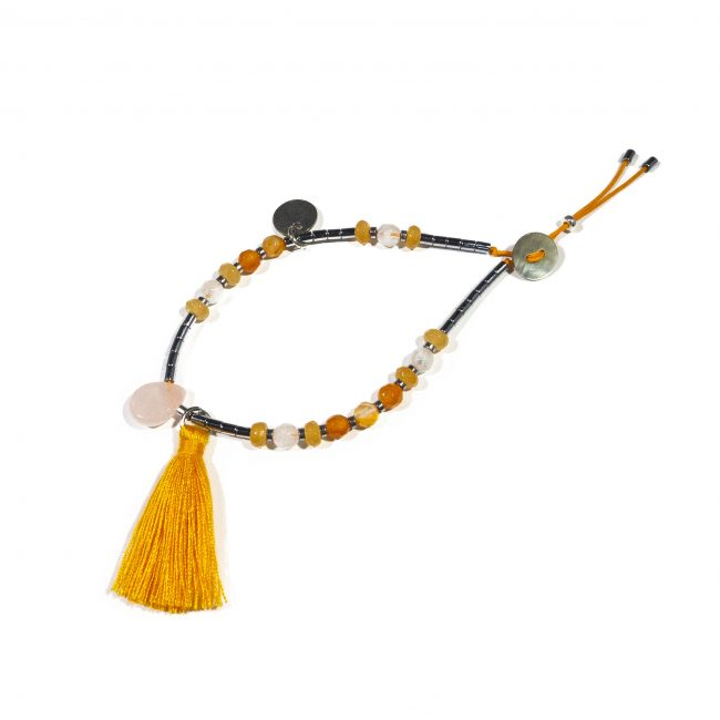Bracelet cornaline et hématite Indian summer Natacha Audier Paris