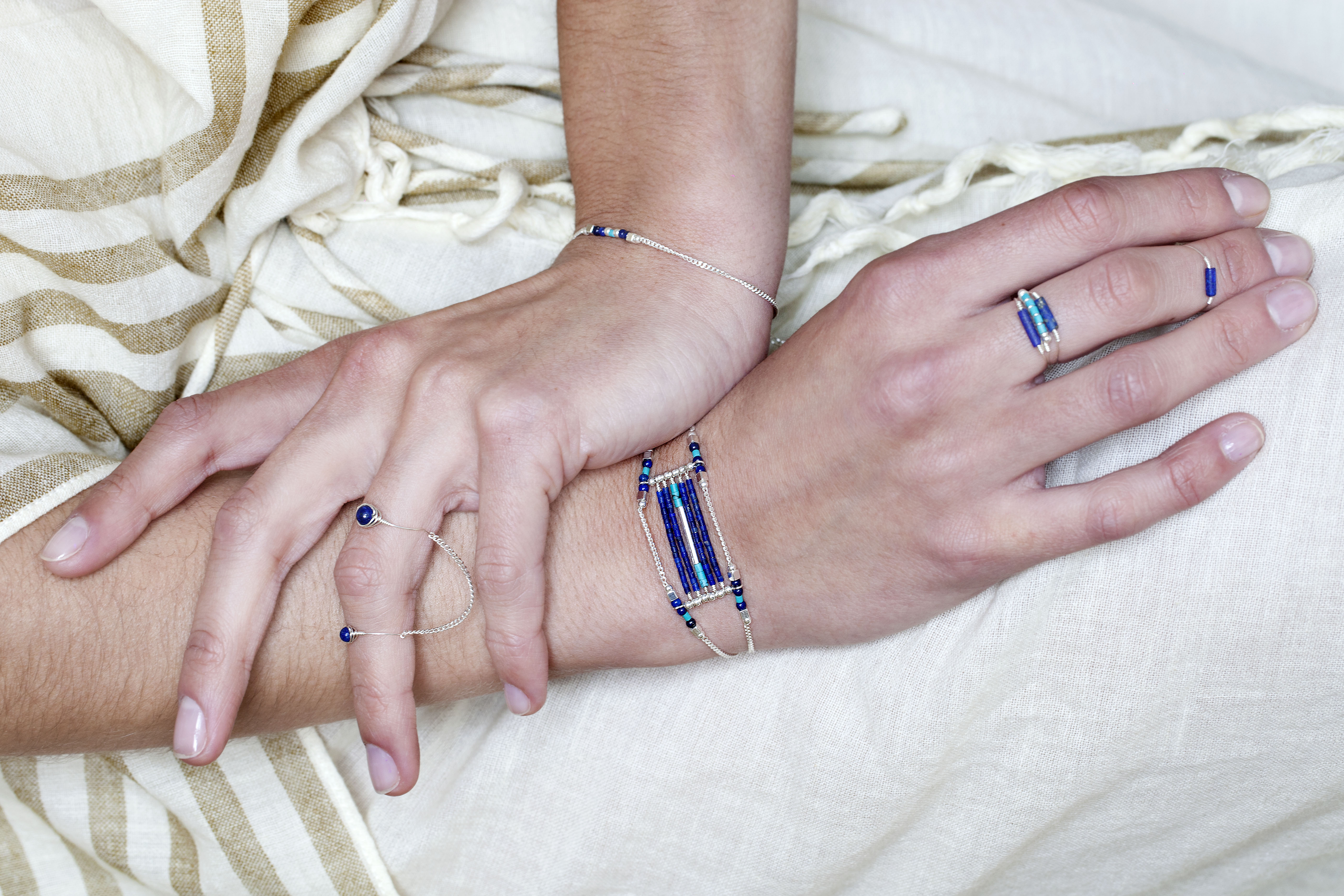 Bracelet et bagues Arizona Blue