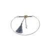 Bracelet jonc en argent massif bleu Jazz Natacha Audier Paris