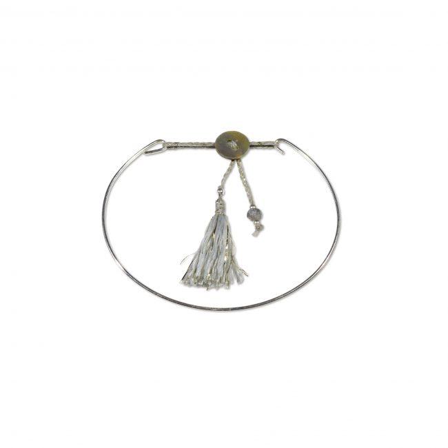 Bracelet jonc en argent massif gris Jazz Natacha Audier Paris