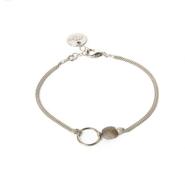 Bracelet labradorite et argent massif My precious Natacha Audier Paris