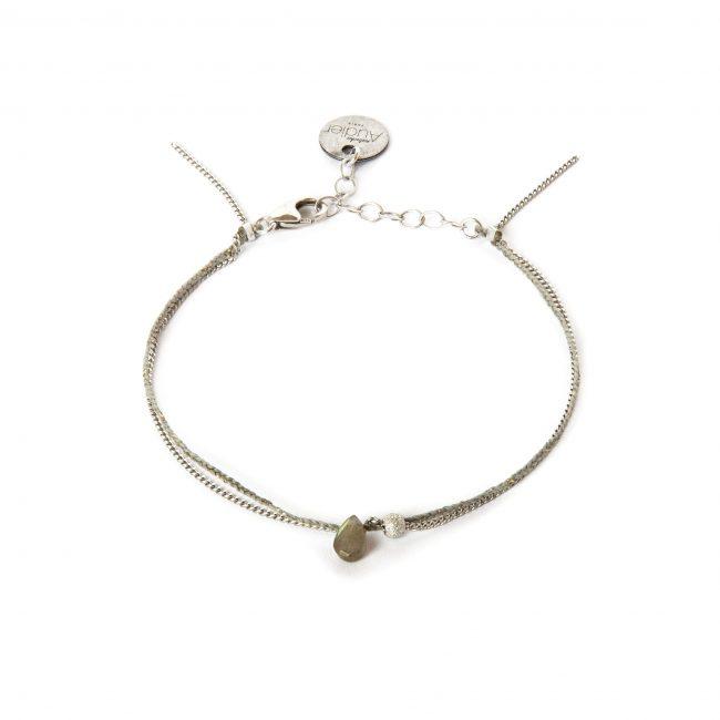 Bracelet labradorite et argent massif Sweet Jane Natacha Audier Paris