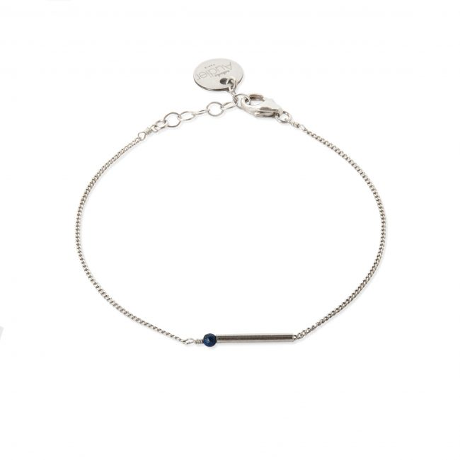 Bracelet lapis lazuli et argent massif My first Natacha Audier Paris