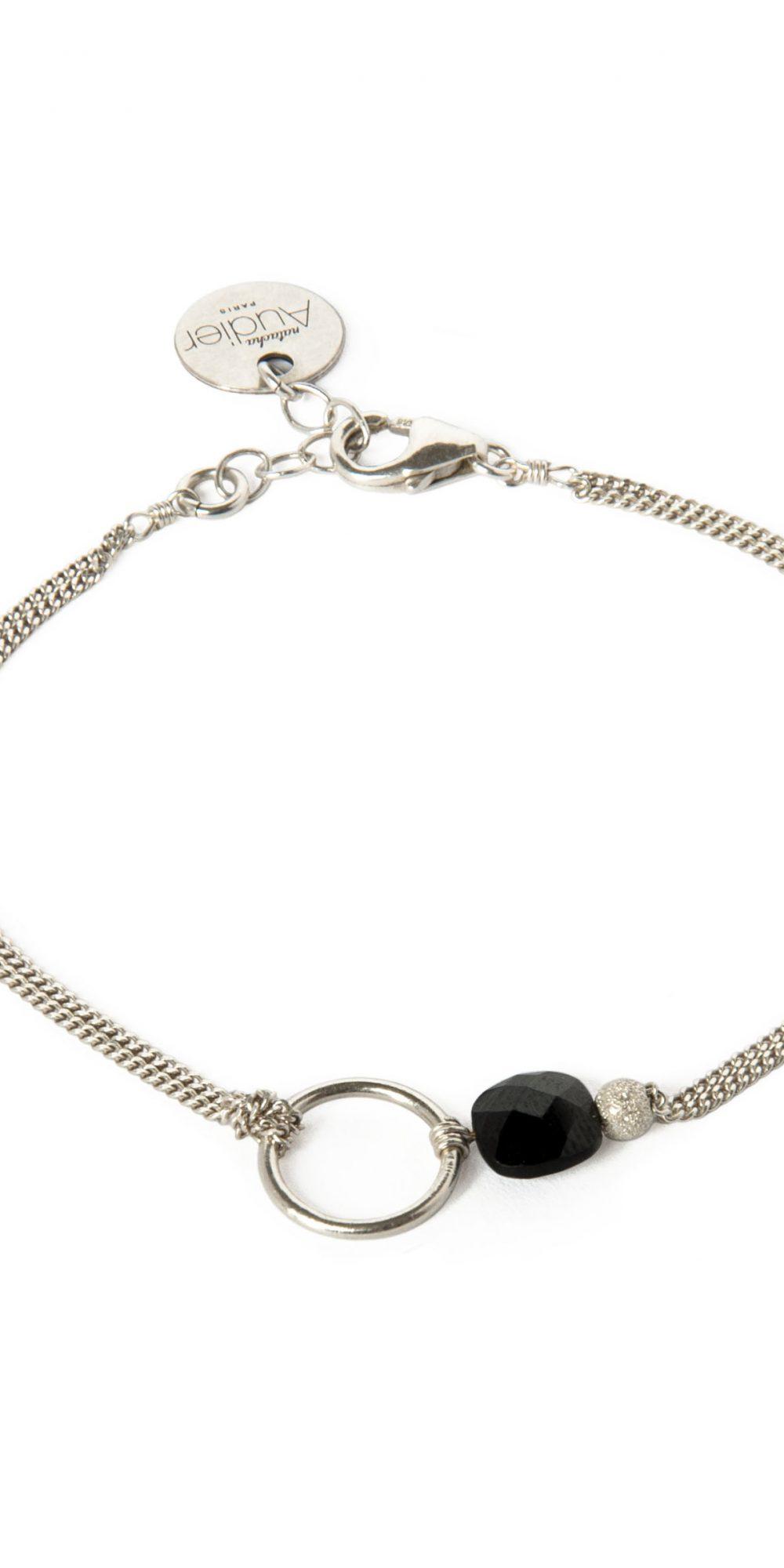 bracelet onyx noir et argent massif my precious natacha. Black Bedroom Furniture Sets. Home Design Ideas