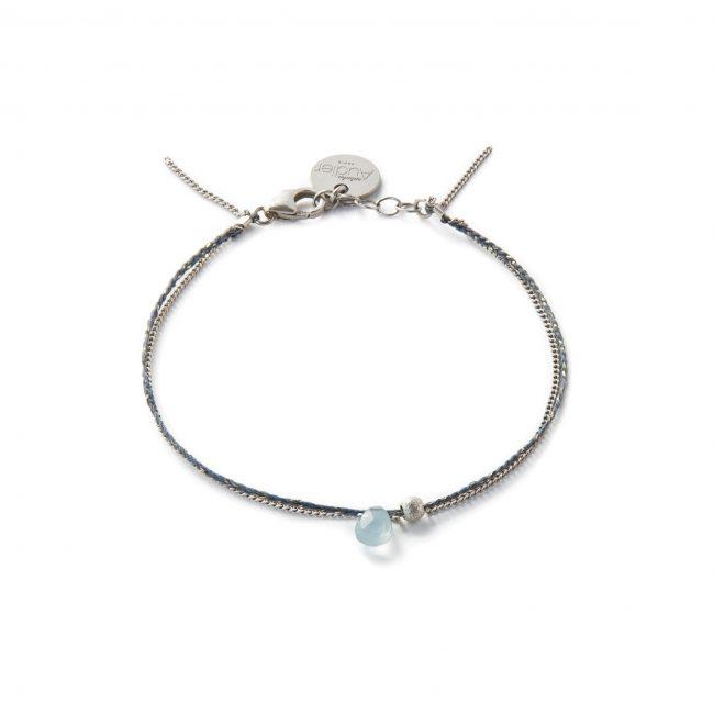 Bracelet onyx bleu et argent massif Sweet Jane Natacha Audier Paris