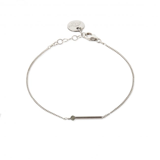 Bracelet pierre de lune et argent massif My first Natacha Audier Paris