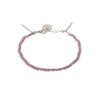 Bracelet tressé fil rose et argent massif Jazz Natacha Audier Paris