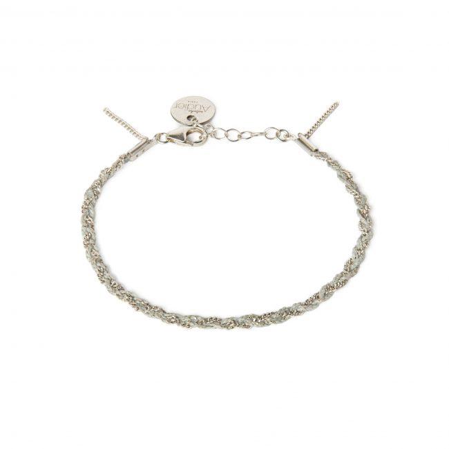 Bracelet tressé fil silver et argent massif Jazz Natacha Audier Paris