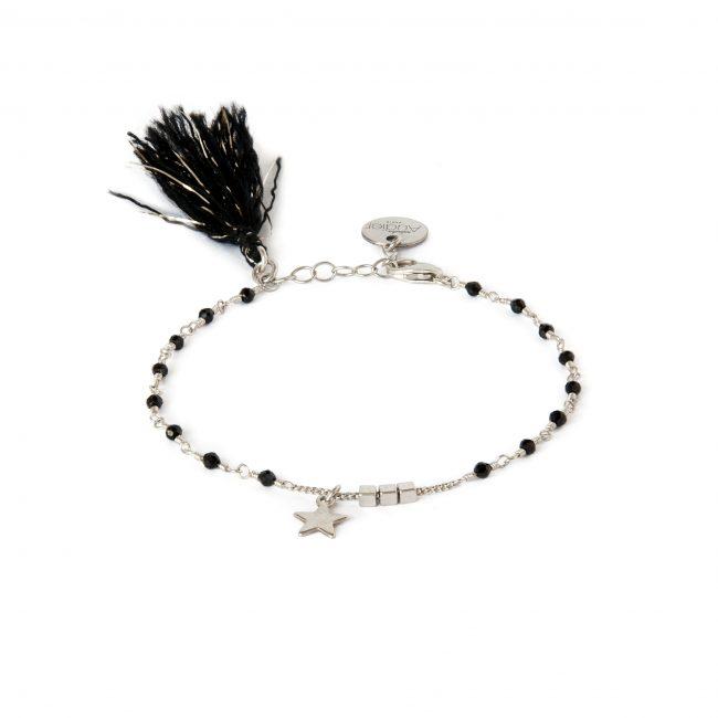 Bracelet spinelle et argent massif Indian spirit Natacha Audier Paris