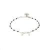 Bracelet spinelle et argent massif Mezza luna Natacha Audier Paris