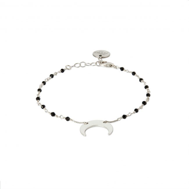Bracelet spinelle et argent massif Mezza luna Natacha Audier Paris