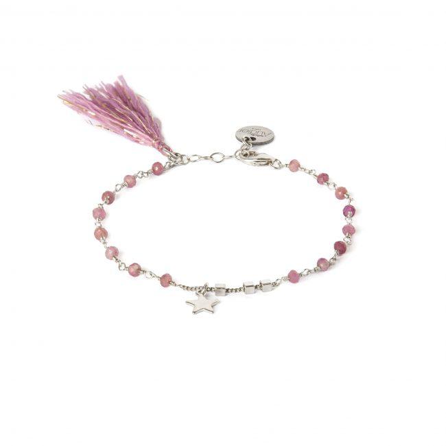 Bracelet tourmaline et argent massif Indian spirit Natacha Audier Paris