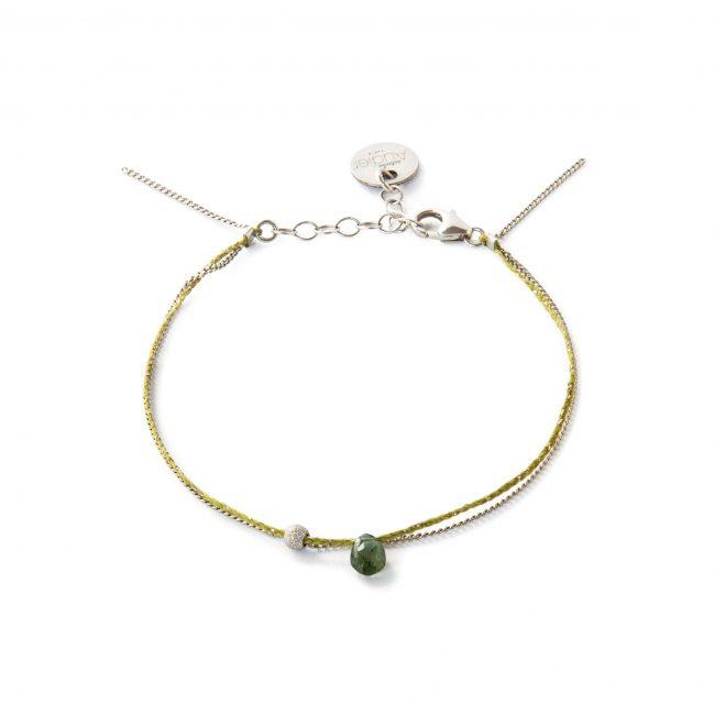 Bracelet tourmaline verte et argent massif Sweet Jane Natacha Audier Paris