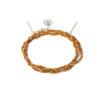 Bracelet 3 tours tressé fil orange et argent massif Jazz Natacha Audier Paris